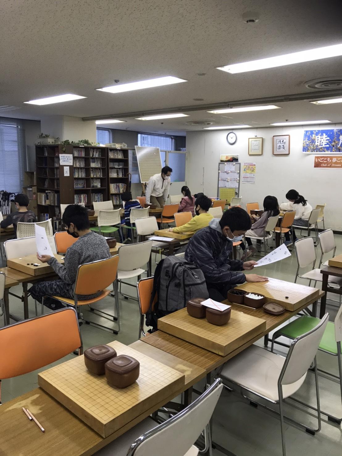 堀江こども囲碁教室の風景