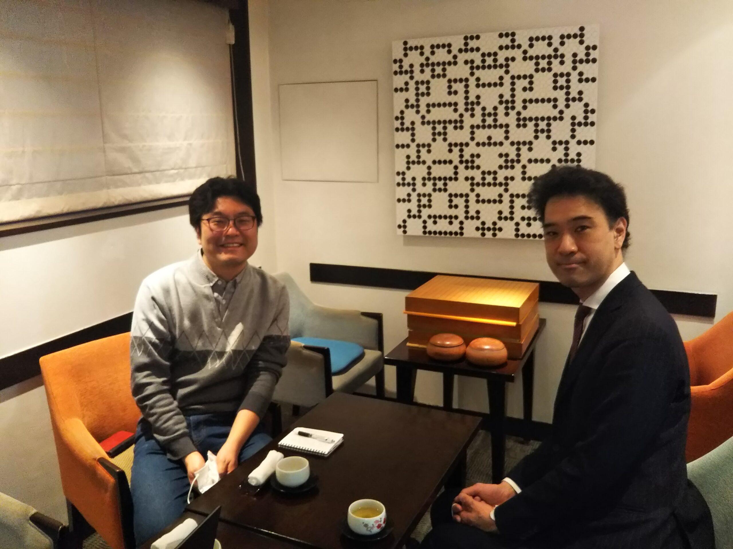 白江さんと洪さんの写真