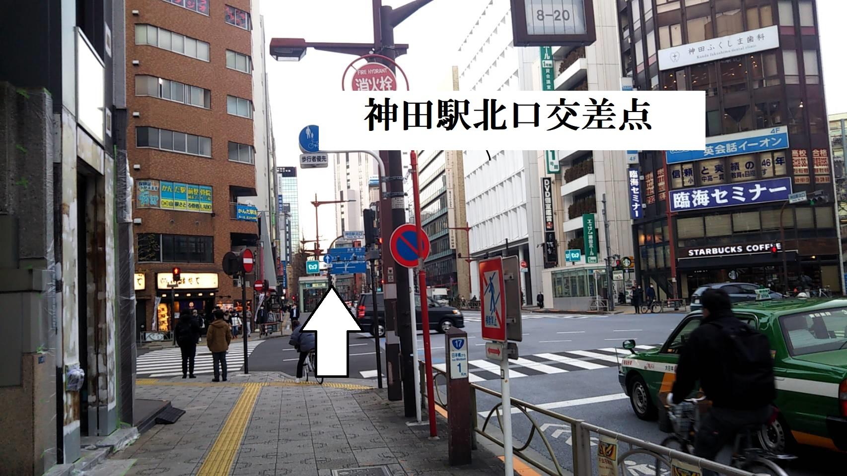 神田駅北口の交差点