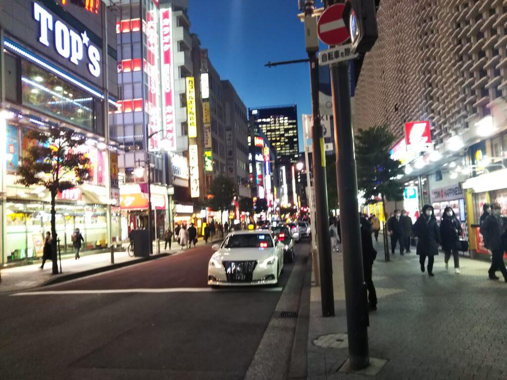 新橋駅からの樹林への道