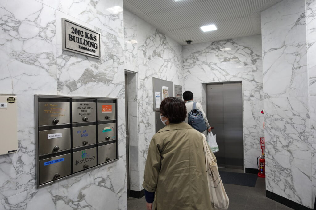 囲碁サロン湘南のエレベーター