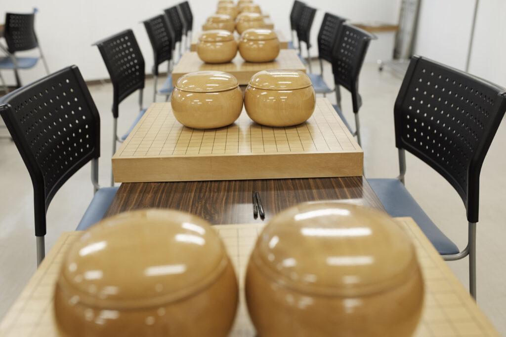 町田囲碁サロンの碁盤