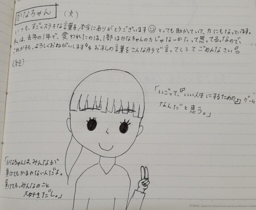 中野香奈先生へのメッセージ